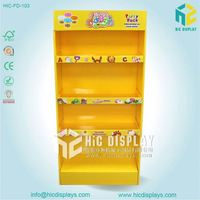 Pop up cardboard children toy display stand for exhibition display