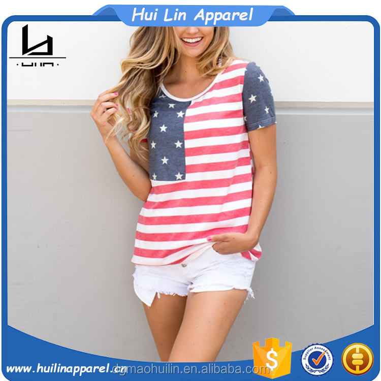 unbranded product bulk wholesale short sleeve printed american flag t shirt