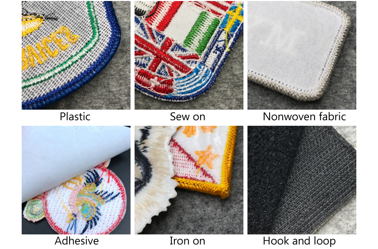Wholesale free sample iron on custom embroidery patch
