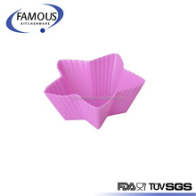 Reusable Non-stick Silicone Baking Cup/ Muffin Cupcake Liners Round Backing Mold For Gelatin Snacks Frozen Treats Ice Cream