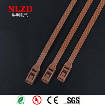 47f6e9b55da7 Specialty Cable Ties In-Line Low Profile Cable Ties Zip Tie Brown Color