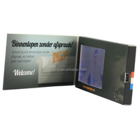 Custom 128 MB 2.8 inch TFT screen video greeting brochure with rechargeable battery
