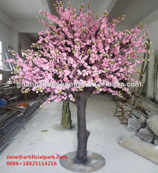 d coratif faux arbre de fleurs de cerisier artificiel made in china faux soie d 39 arbre de. Black Bedroom Furniture Sets. Home Design Ideas