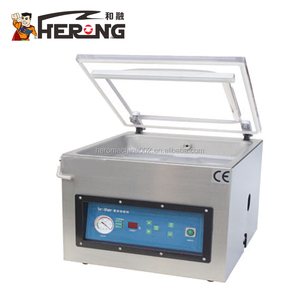 HERONG BRAND Fish Dry Fruit Cheese Food Vegetable Clothes Single Double Chamber Thermoforming Automatic Vacuum Packing Machine