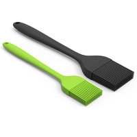 Read to Ship Amazon Best Seller 2 Packs 8 inch and 10 inch BBQ Grill Brush Silicone Basting Pastry Brush