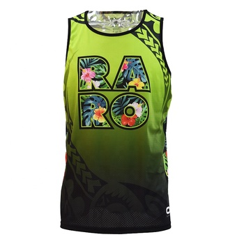 Pure new design Wholesale custom sublimation Polyester Men clothing   men singlet