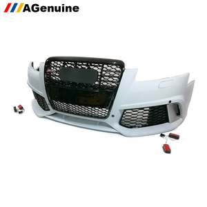 PP plastic A6 S6 front bumper with grills car conversion body kit RS6 facelift body kit for Audi A6 S6 C6