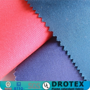 ASTM F1506 certified 9oz cotton/nylon blending FR fabric for rion and steel industry
