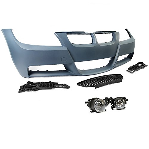 BMW E90 3-Series 06-08 W/O PDC M-Tech Style Front Bumper Cover Projector Fog