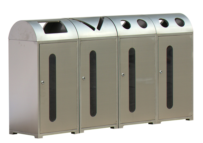 Stainless steel recycle trash can