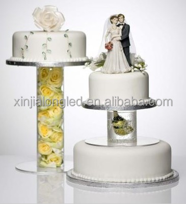 Hot Sale Wedding Cupcake Display Acrylic Cake Stand 3 Tier