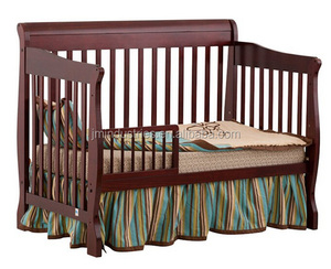 wholesale solid wood baby cribs/cherry wooden convertible mini crib
