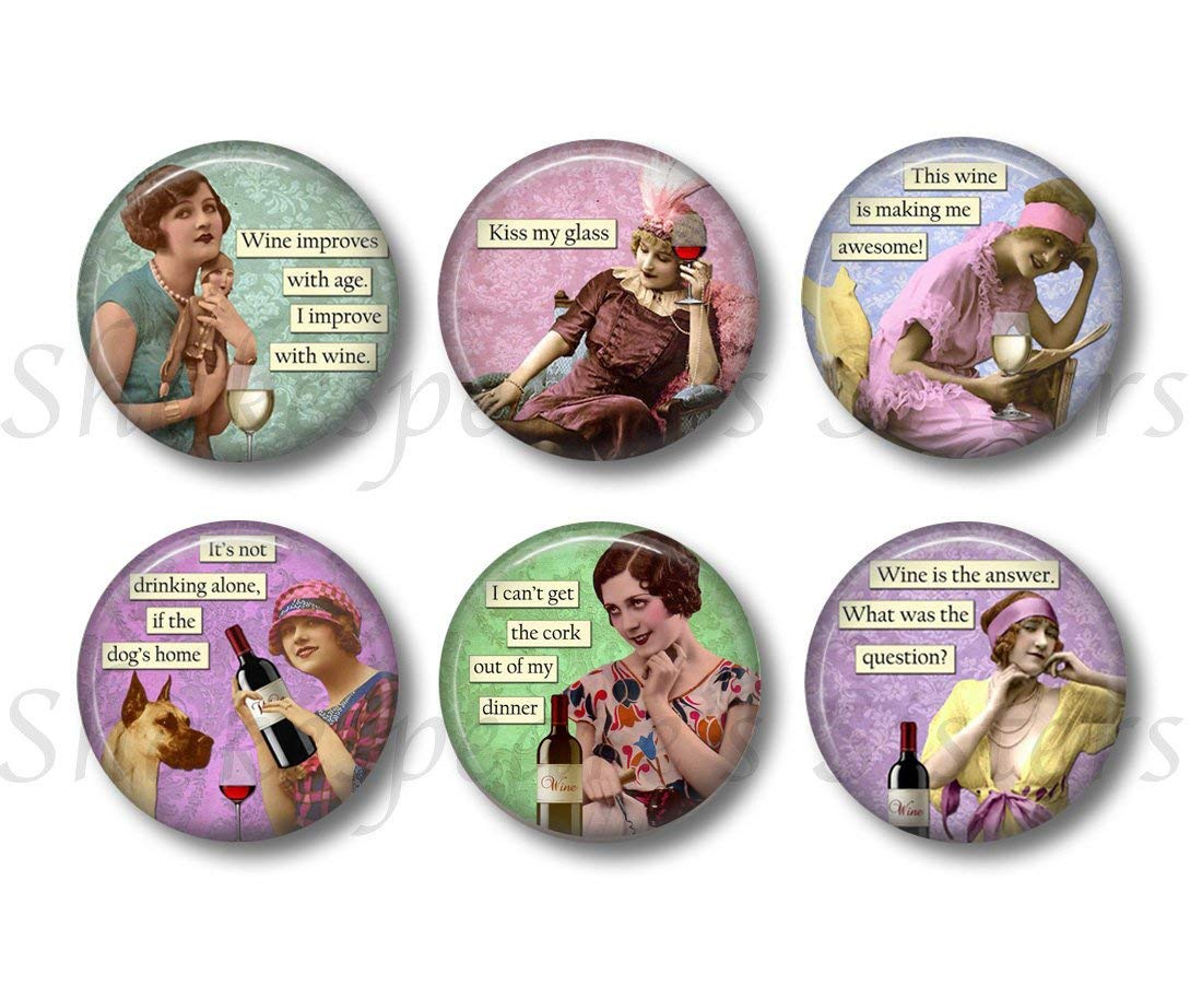 moms night out magnets wine lover gift magnets wine theme magnets Funny refrigerator magnets Wine themed fridge magnets kitchen magnets