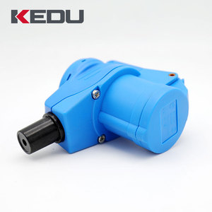 KEDU SD321-1 CEE Plug and angle clutch with integrated Schuko socket