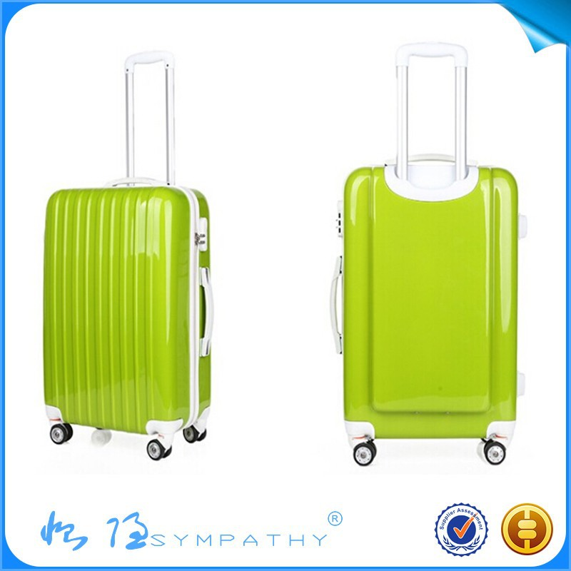 PC+ABS light blue flower imprint panel PC Trolley Luggage