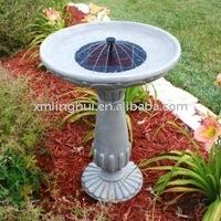 Garden solar bird bath