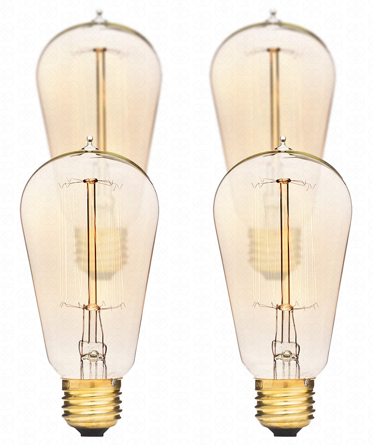 Get Ations Edison Light Bulbs By Deneve Standard 4 Pack Thomas 40w Antique Chandelier