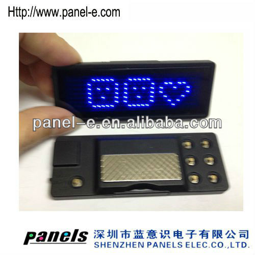 Single line 7x29 dot matrix display software to exit text led light nameplate