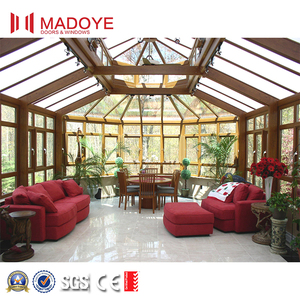 2018 MADOYE new design aluminum sun rooms/winter garden/glass house/greenhouse