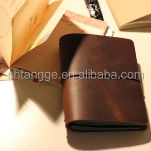 Classico leather journal stampa personalizzata pagina interna diario
