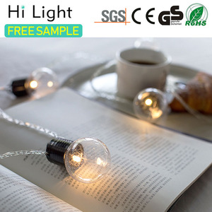 high quality clear battery powered led globe led light bulbs string lights