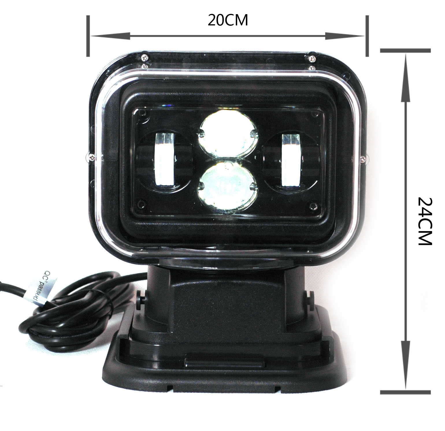 2020 Hot sell NEW Factory Wholesale 12v 24v spotlight Car Lamp 60W LED Search Light remote for truck offroad SUV auto lights