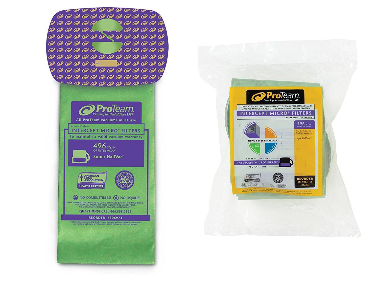 ProTeam Intercept Micro Filter Bag, Closed Collar: Super HalfVac