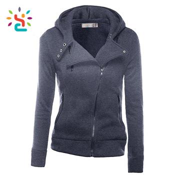 901cdbabd Design cropped Women hoody with side zipper Sexy Plain Fitted girls zipper  hoodies Lapel Polar fleece