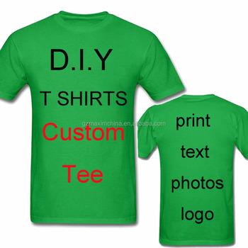 672dd8de90 Camisas de impressão T Dos Homens O Seu PRÓPRIO Design de Logotipo Da Marca  Texto palavras
