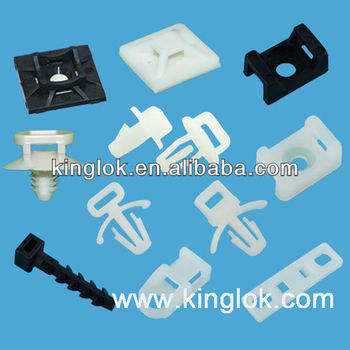 Saddle type cable tie mount/nylon cable clamp Push Mount Cable Tie ...