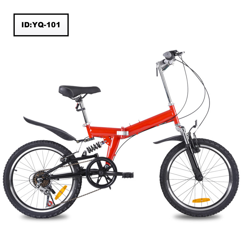 Hot Sales 20 Inch carbon steel Folding Mountain Bike 6 Speed Folding Bicycle