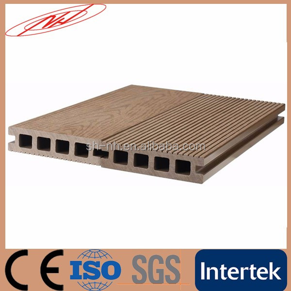 Hollow Grooved WPC Wood plastic composite decking board