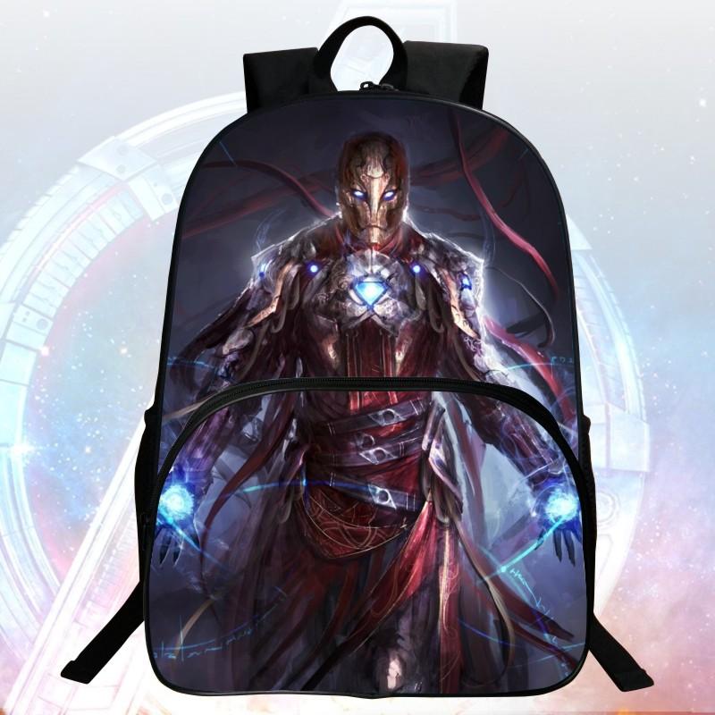 2016 Hot Sale 16 inch Prints Avengers Cool Child Backpack Monster Boys School Bags Students Mochila Bag Kids School Backpacks