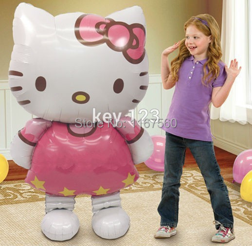Large Size Hello Kitty Cat Foil Balloons Cartoon Birthday Decoration Wedding Party inflatable balloons Classic Toys