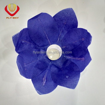 Chinese Paper Lotus Flower Floating Lanterns Birthday Wedding Party
