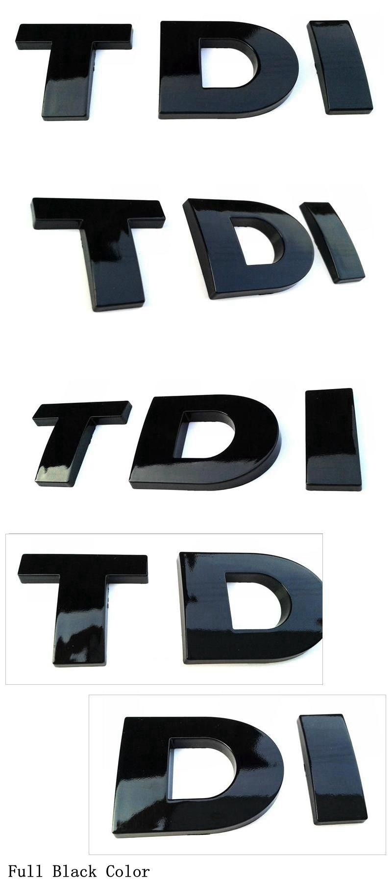 3D Letters TDI For Hood Emblem Emblema Badge Logo Or Car Body