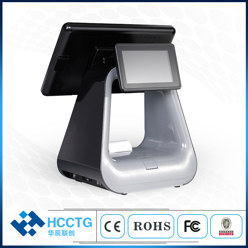 15.6'' All In One Dual Touch Screen Cash Register POS with Fingerprint Recognition HKS10-DW