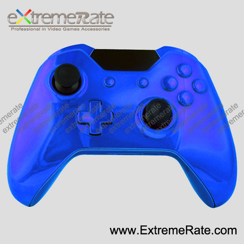 Replacement Chrome Blue Controller Housing For Xbox One Shell Console  Original Case Repair Component Abxy Guide Home Button Kits - Buy Controller