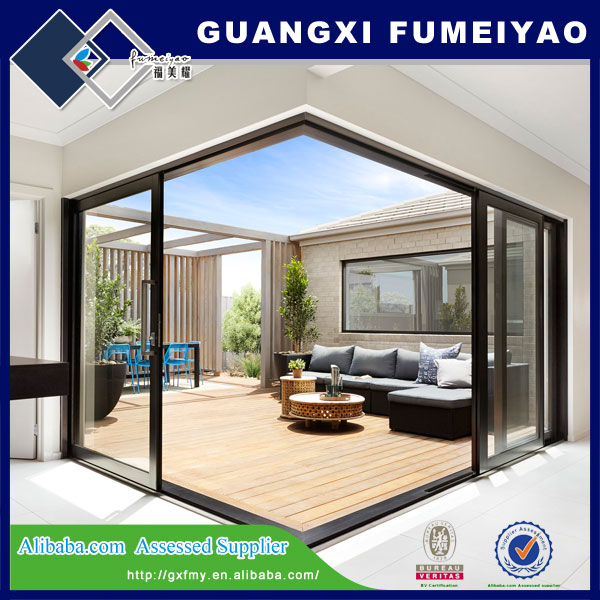 High Quality Angular Interior Automatic Glass Sliding Door