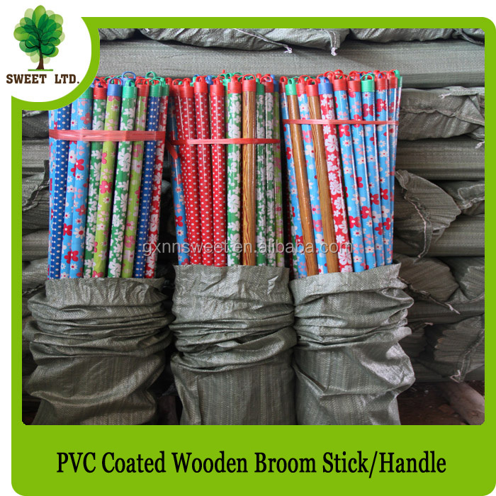 surface smooth plastic flat eucalyptus wood handle stiks for sale