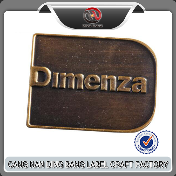 Professional OEM Items Self Adhesive Type Custom Die Cast Brand Logo Decorative Vintage Door Nameplate
