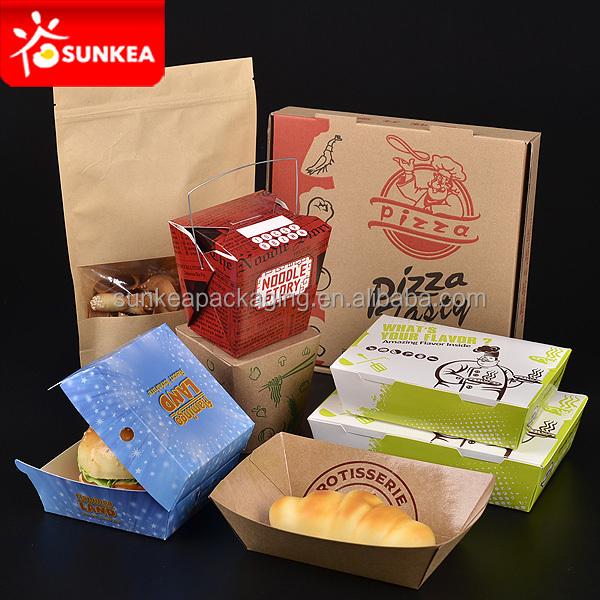 Kustom Kertas Kemasan Makanan Cepat Saji/burger Dan Roti
