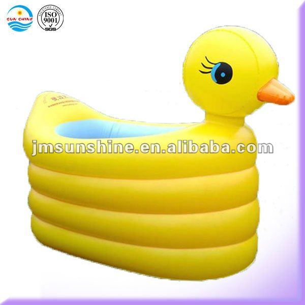 inflatable duck shape baby bath tub