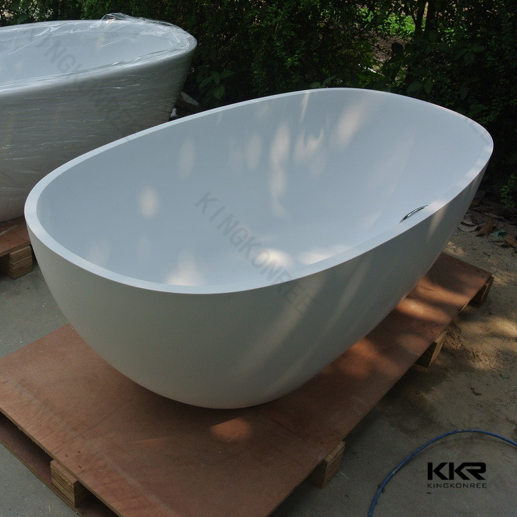Top quality artificial stone resin freestanding bath buy for Freestanding stone resin bathtubs