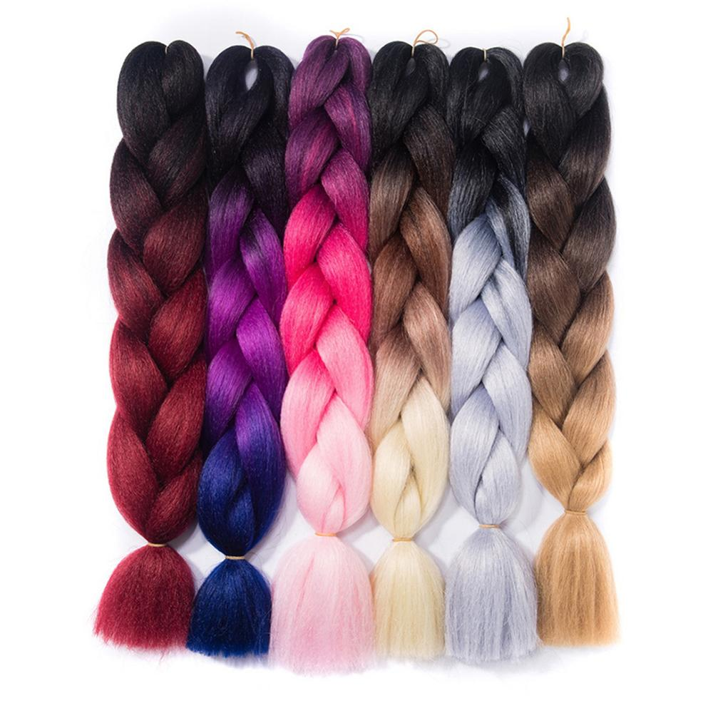 Hair Extensions & Wigs Miss Rola Jumbo Braids Ombre Braiding Hair Bundles 32inch 165g/pc 2-3tone Colorful High Temperature Synthetic Hair Wide Selection;