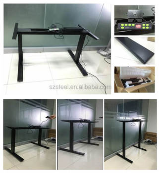 Office Modern Design Electric Adjustable Height Table Steel Height Adjustment Drawing Desk Buy