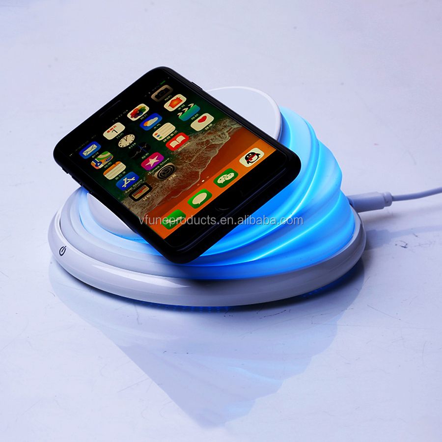 2019 New Arrival Multifunctional LED Mood Light Color Changing Wireless Charger
