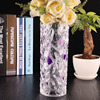 High transparent crystal flower glass vase wedding party home decoration