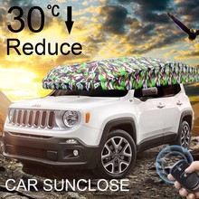 SUNCLOSE Sun Protection Car Shelter Universal Size Car Sun Shade Automatic Car Cover