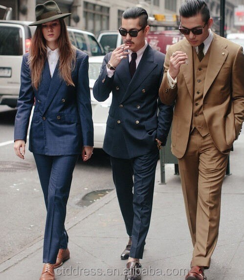 Classic Double Breasted Style,3-piece Suit,Custom Tailored Urban ...